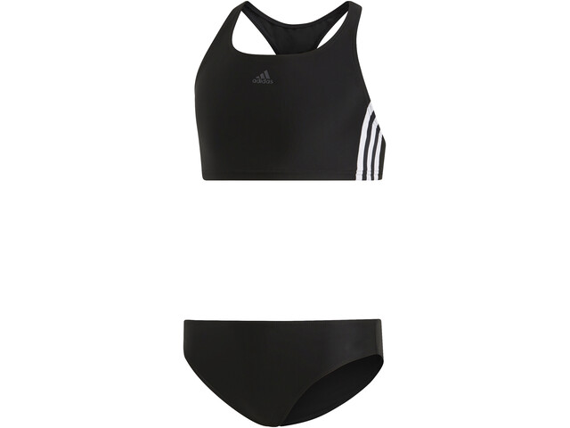 adidas Fit 3-Stripes 2 Piece Bikini Jenter black/white